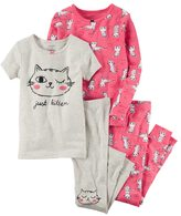 Carter's Girls 4-12 4-pc. Print Pajama Set