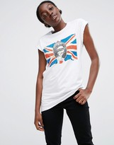 Asos Boyfriend T-Shirt Sex Pistols Union Jack Print