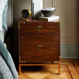 west elm Malone Campaign Nightstand - Walnut