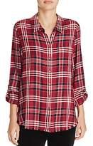 Soft Joie Anabella E Frayed Plaid Shirt