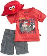 Nannette Baby Boys' Sesame Street Tee, Hat & Shorts Set