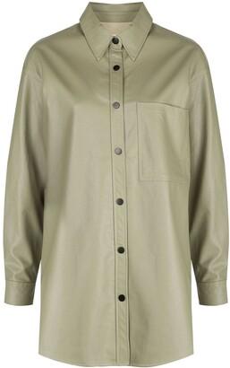 Apparis Faux-Leather Shirt
