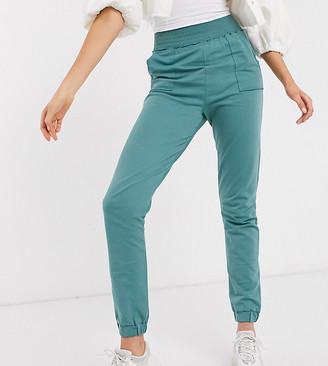 Asos DESIGN Tall girly shirred waist jogger