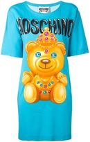 Moschino crowned bear T-shirt dress - women - Rayon/other fibers - 38