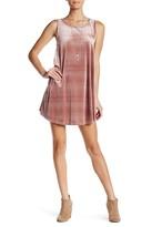 Want & Need Velvet X Back Trap Dress