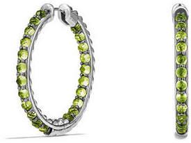 David Yurman Osetra Faceted Stone Hoop Earrings