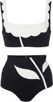 Laura Urbinati Floral Two Tone Bikini Set