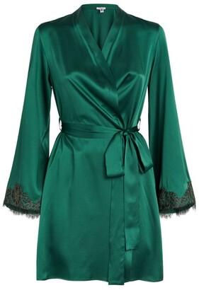 Gilda and Pearl Lace-Trim Robe