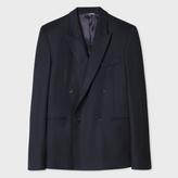 Paul Smith Men's Slim-Fit Navy Wool Flannel Double-Breasted Blazer