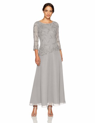 J Kara Women's Asymetrical Long Beaded Dress Dress