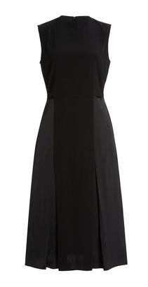 Victoria Victoria Beckham Cutout Satin-Crepe Midi Dress