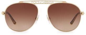 Dolce & Gabbana 57MM Logo Aviator Sunglasses