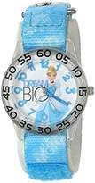 Disney Girl's 'Cinderella' Quartz Plastic and Nylon Watch, Color:Blue (Model: W002939)