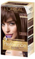 L'Oreal Superior Preference Fade Defying Color & Shine System, Dark Soft Mahogany Brown 4SM