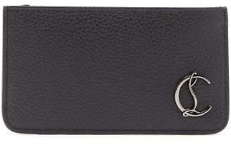 Christian Louboutin Credilou Grained-leather Cardholder - Mens - Black