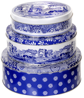Spode Blue Italian Nesting Cake Tins (Set of 3)