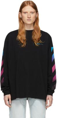 Off-White Black Gradient Diag Long Sleeve T-Shirt