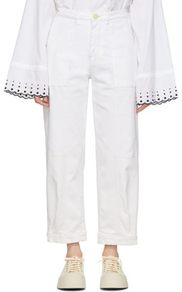 See by Chloe White Panelled Jeans