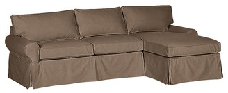 Pottery Barn Sale PB Basic Slipcovered Sofa with Chaise Sectional