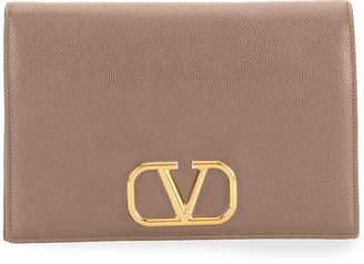 Valentino Garavani VLOGO Medium Soft Vitello Leather Wallet