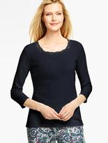 Talbots Lace-Trimmed Tee