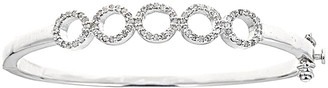 Forever Creations Usa Inc. Forever Creations Silver 0.50 Ct. Tw. Diamond Bangle