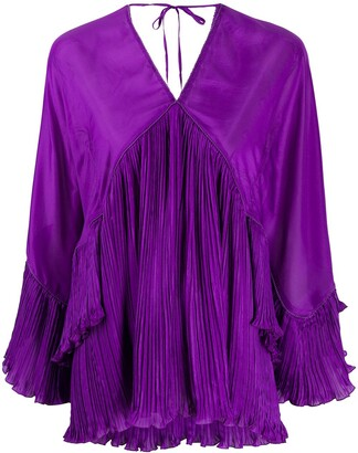 Alberta Ferretti Pleat Detail Blouse