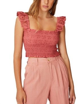 Cotton On Broderie Cropped Blouse