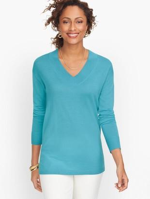 Talbots Merino Deep V-Neck Sweater