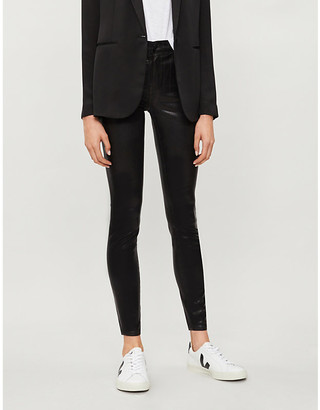 J Brand Maria skinny high-rise faux-leather jeans