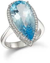 Bloomingdale's Blue Topaz and Diamond Statement Ring in 14K White Gold