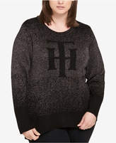 Tommy Hilfiger Plus Size Monogram Graphic Sweater, Created for Macy's