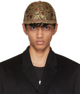 Dolce & Gabbana Red and Gold Brocade Cap