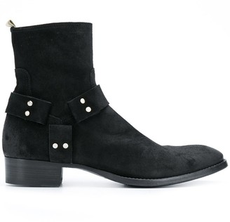 Officine Creative Suede Calf-Length Boots