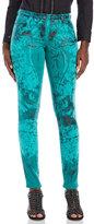 Roberto Cavalli Printed Corduroy Skinny Pants