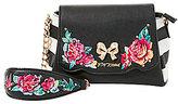 Betsey Johnson Belle Rose Floral-Appliqu d Cross-Body Bag