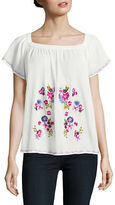 French Connection Jude Embroidered Cotton Top
