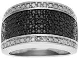 Journee Collection 1/10 CT. T.W. Round-cut Diamond Pave Set Ring in Sterling Silver