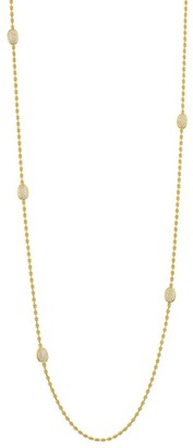Brera Via 18K Yellow Gold & Diamond Beaded Chain Necklace