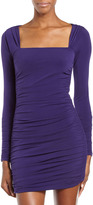 Laundry by Design Ruched Square-Neck Dress