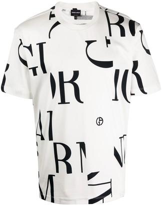 Giorgio Armani monogram print T-shirt