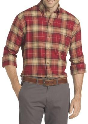 Arrow Men's Big and Tall Saranac Flannel Long-Sleeve Button-Down Shirt