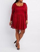 Charlotte Russe Plus Size Floral Lace Skater Dress