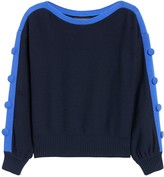 Banana Republic Button-Sleeve Cropped Sweater