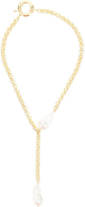 Timeless Pearly CHAIN NECKLACE WITH PENDANT AND PEARLS OS Gold, White