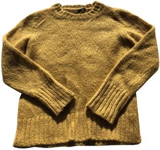 Maje Yellow Wool Knitwear