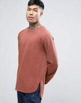 Asos Sweatshirt With Curved Hem