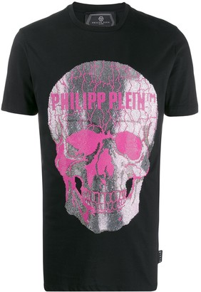 Philipp Plein embellished skull short sleeve T-shirt