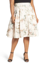 Melissa McCarthy Print Pleat Full Skirt (Plus Size)