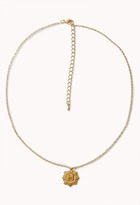 Forever 21 Etched M Initial Necklace